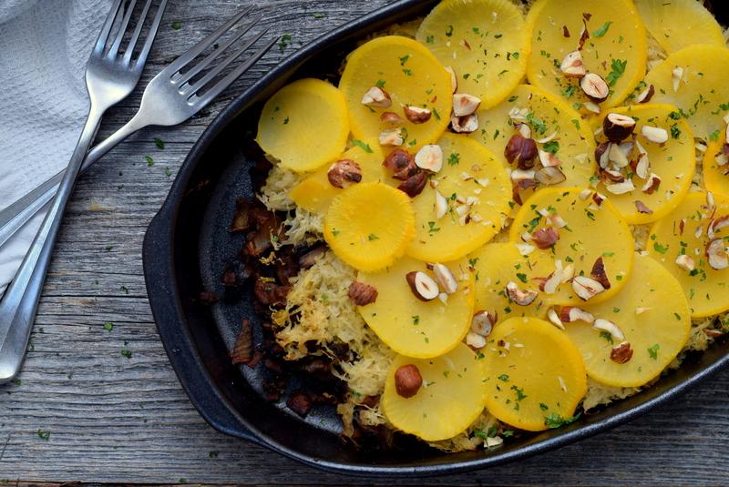 Karola's Kitchen - Zuurkool met champignons en boterraap
