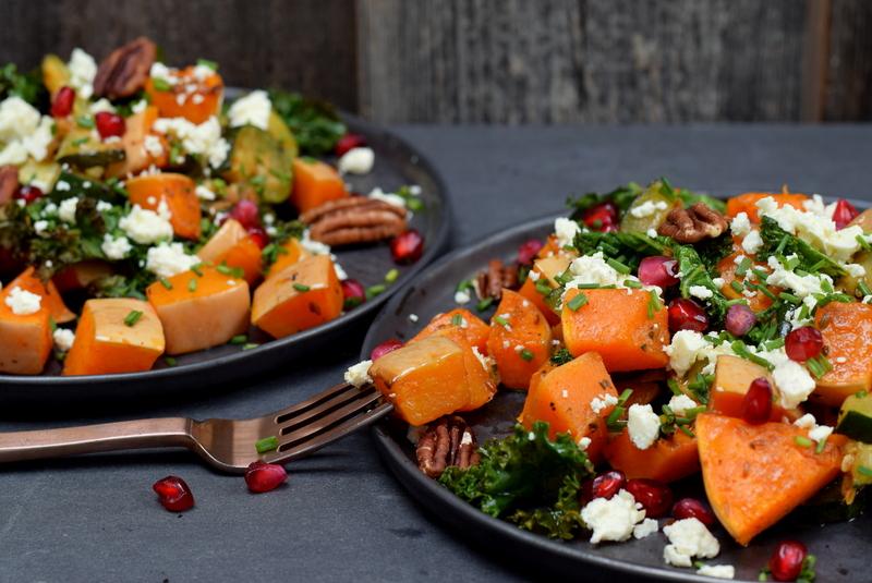 Karola's Kitchen - Geroosterde groentesalade met komijn en granaatappel