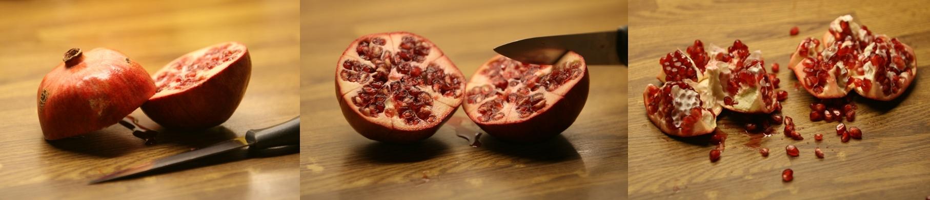 granaatappels ontpitten