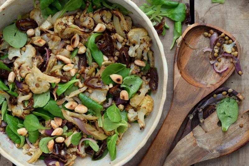 Karola's Kitchen - Midden-Oosterse salade met bloemkool en linzen