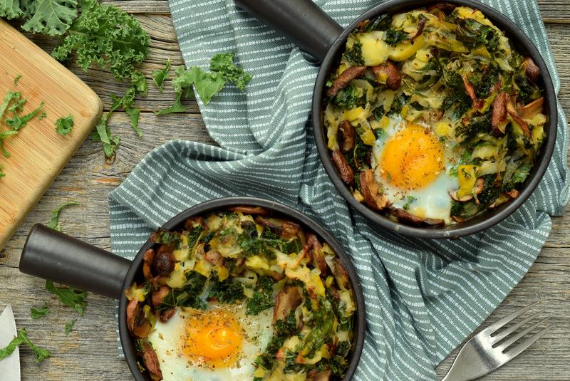 Karola's Kitchen - Oveneitjes met prei, champignons en boerenkool