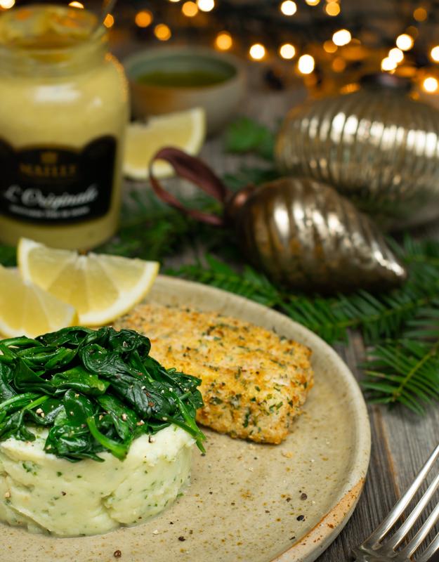 Karola's Kitchen - Vis in een broodkorstje met knolselder-mosterdpuree