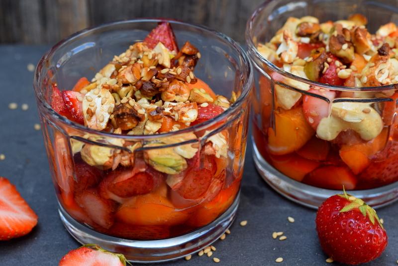 Karola's Kitchen - Aardbeien en abrikozen uit de oven