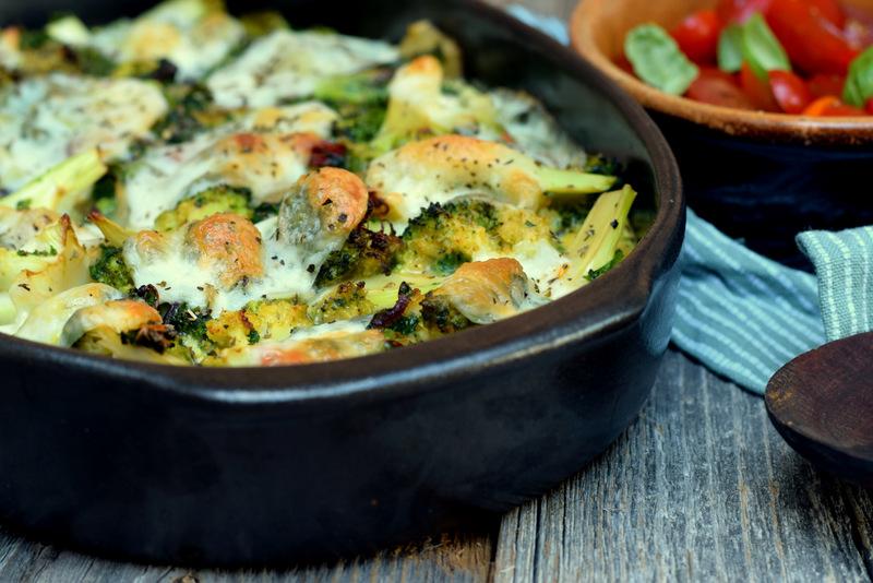 Karola's Kitchen - Ovenschotel met broccoli, boerenkool en mozzarella
