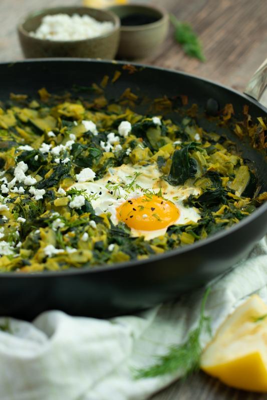 Karola's Kitchen - Groene shakshuka