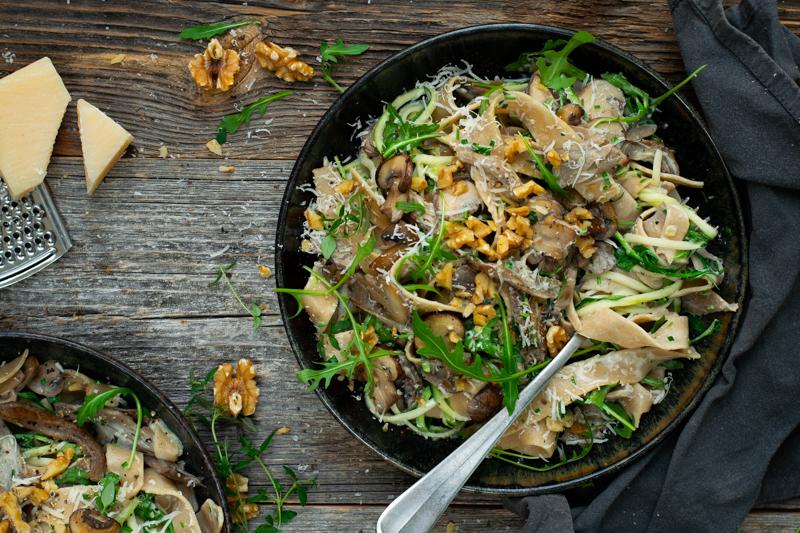 Karola's Kitchen - Pappardelle met champignons
