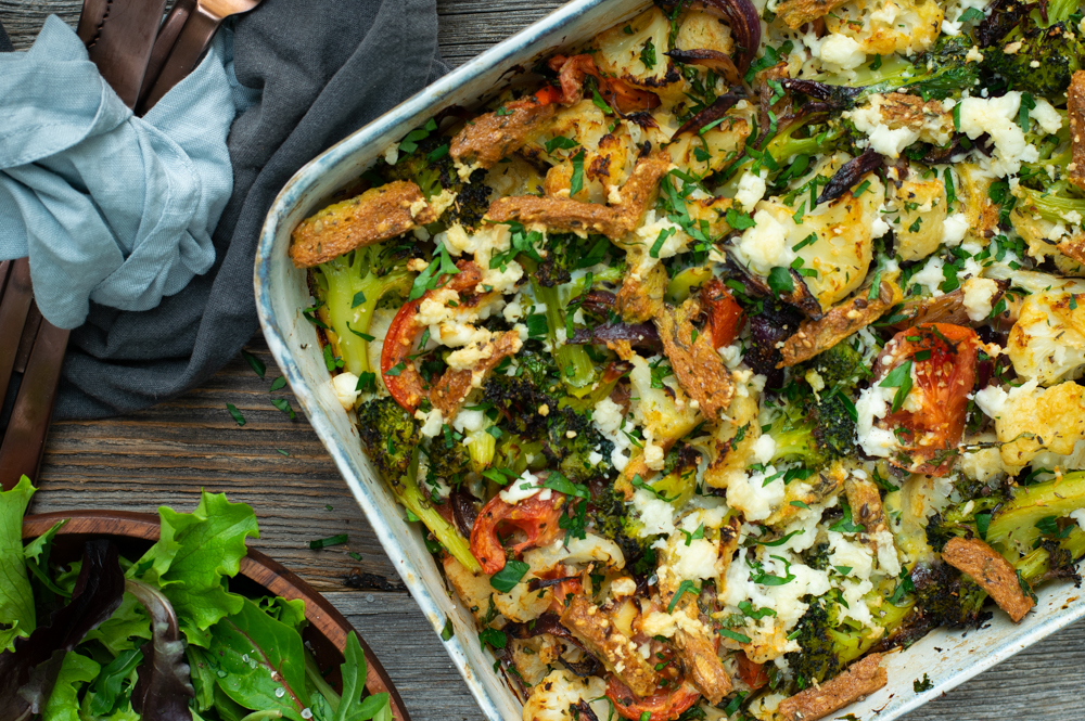 Karola's Kitchen - Broccoli en bloemkool met ei en feta